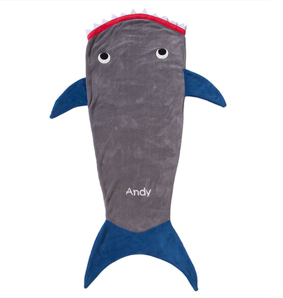 Blankie Tails™ Kids Shark Tail - View 2