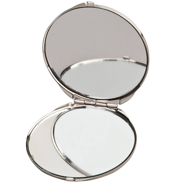 Personalized Round Compact with Dual Mirrors - View 3