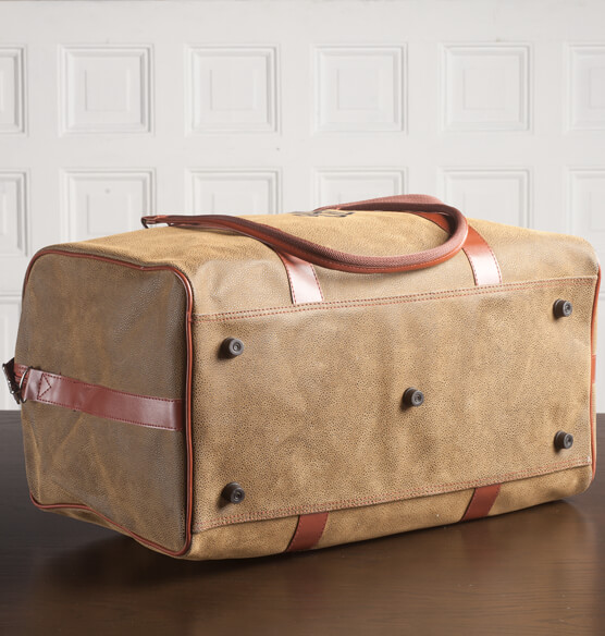 Personalized Leather Duffle Bag - View 3