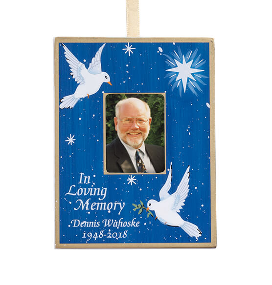 Personalized Dove Memorial Ornament - View 2