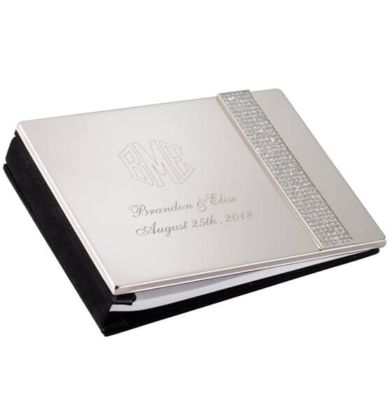 Personalized Brilliance Guest Book Keepsake - View 2