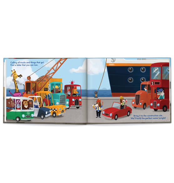 Personalized My Very Own® Trucks Storybook - View 2