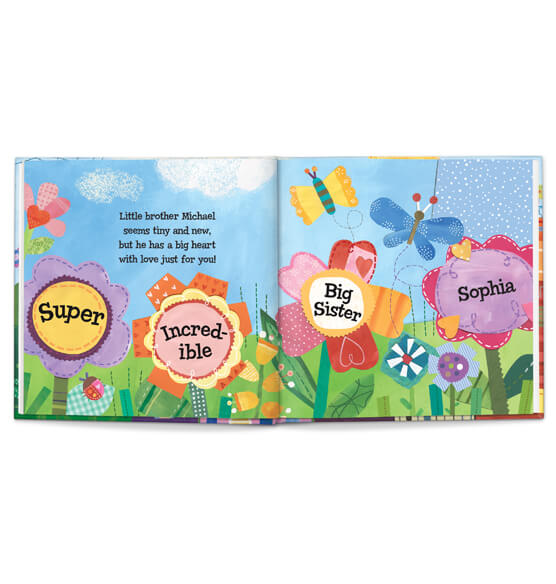 Personalized The Super, Incredible Big Sister Book & Medal Storybook - View 3