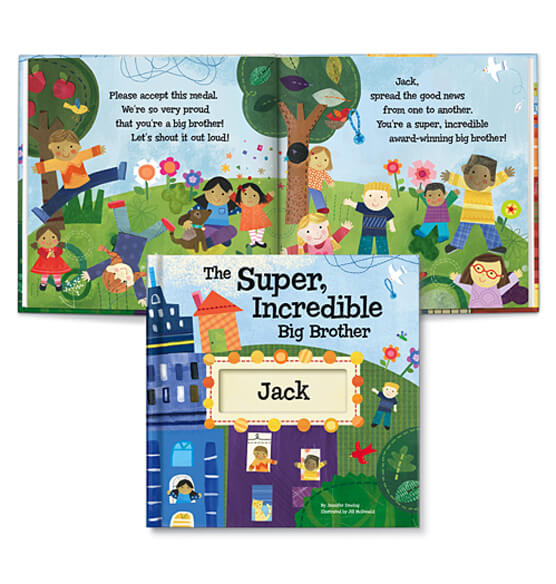 Personalized The Super Incredible Big Brother Book Storybook - View 2