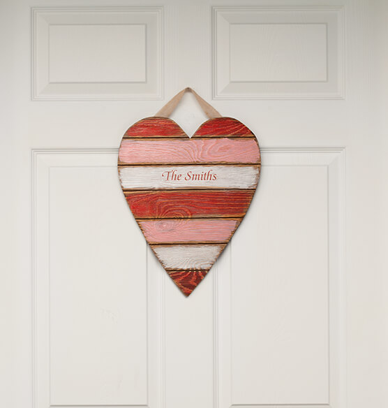 Personalized Wooden Heart Plaque - View 2