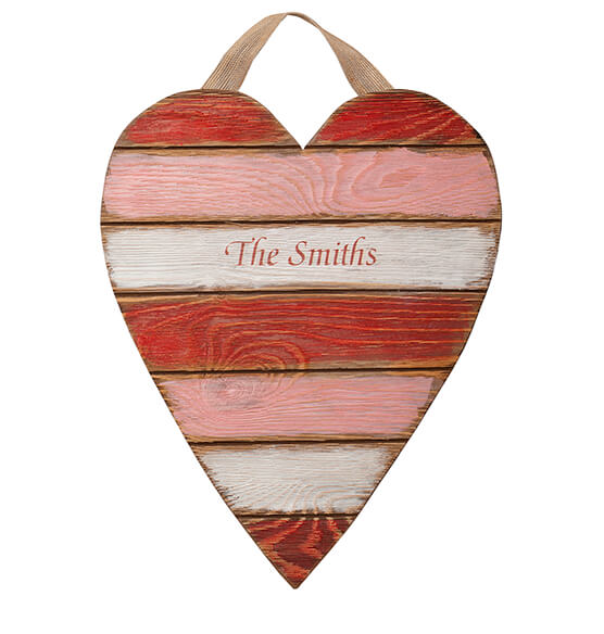 Personalized Wooden Heart Plaque - View 3