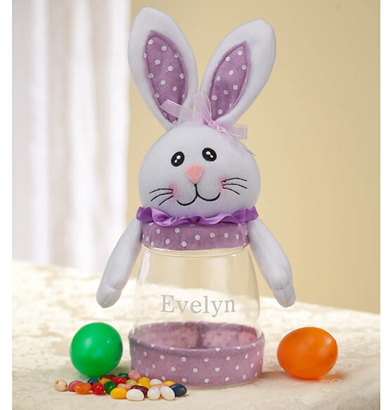 Personalized Easter Bunny Treat Jar - View 2