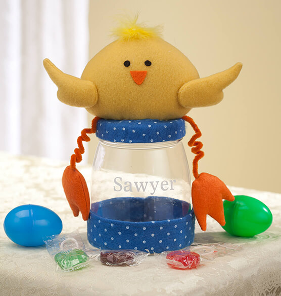 Personalized Easter Chick Treat Jar - View 2