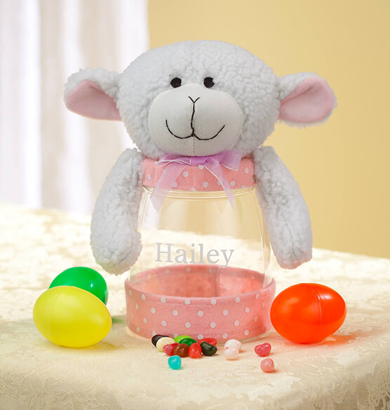 Personalized Easter Lamb Treat Jar - View 2