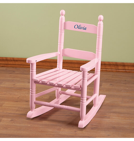 Personalized Pink Children's Rocker - View 2