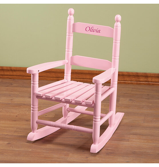 Personalized Pink Children's Rocker - View 3