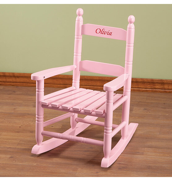 Personalized Pink Children's Rocker - View 4