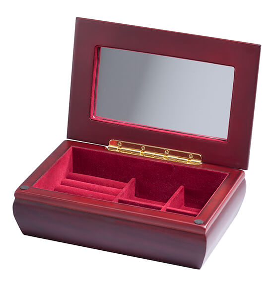 Personalized Jewelry Box with Brass Plate - View 4