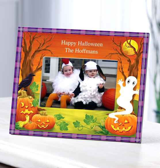 Personalized Haunted Harvest Halloween Photo Frame - View 2