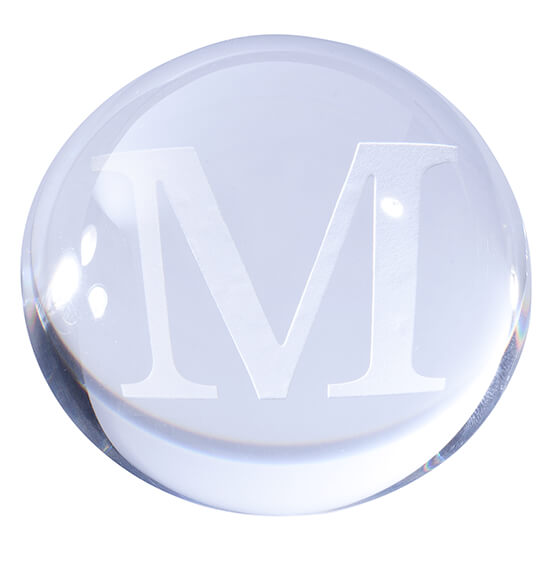 Personalized Optic Paperweight - View 2