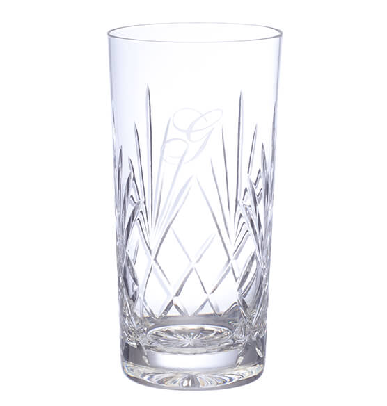 Personalized European Crystal Hi-Ball Glass set of 4 14oz - View 2