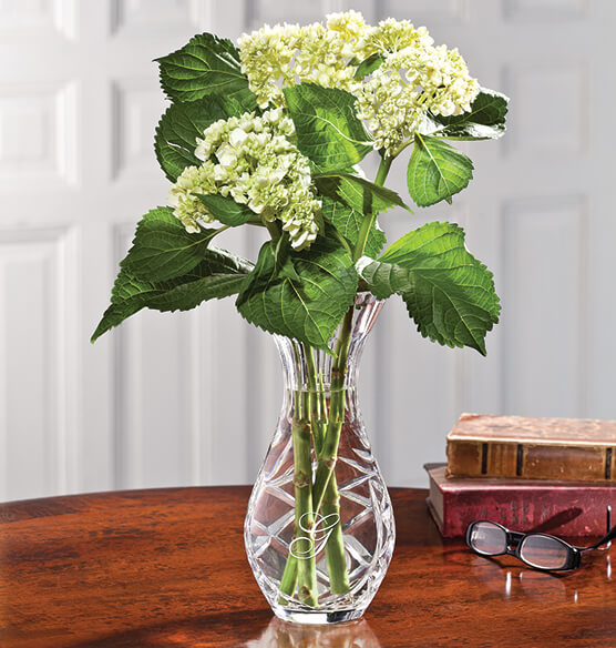 Personalized Crystal Carafe Vase - View 2