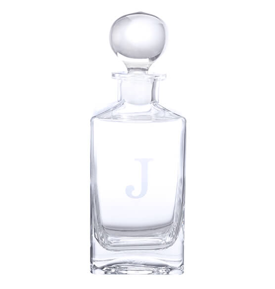 Personalized Square Glass Decanter - View 2