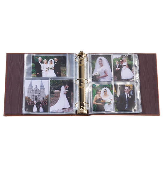 Personalized Bellini Antique Style Leather Photo Album - View 2