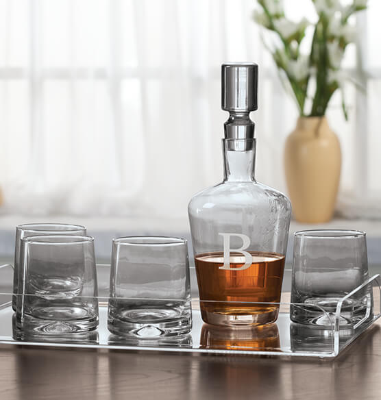 Personalized 5 Piece Decanter Set - View 2