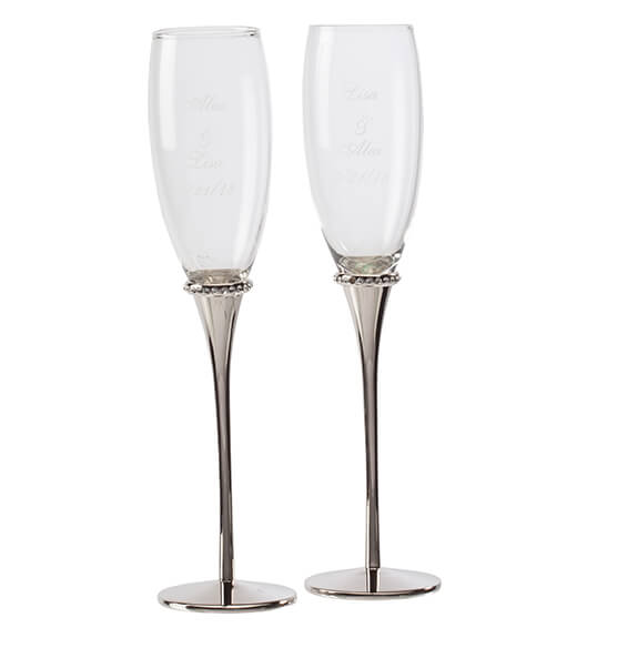 Personalized Forever Yours Toasting Flutes - View 2