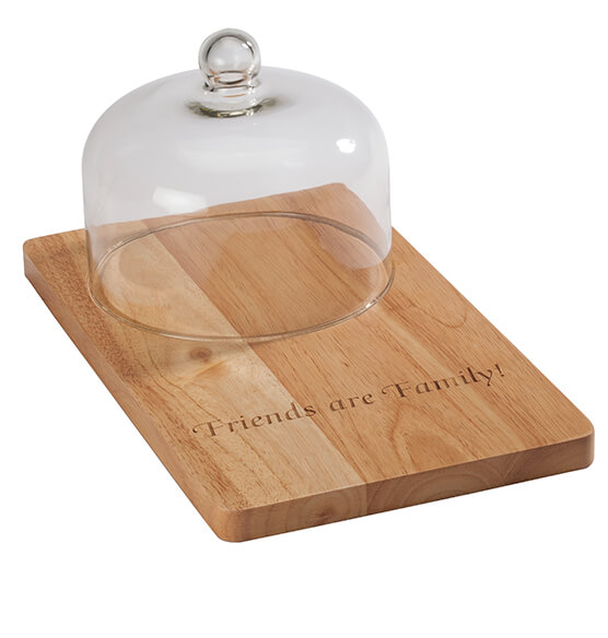 Personalized Domed Cutting Board with Tools - View 3