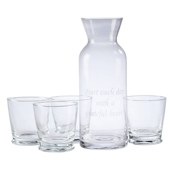 Personalized 5 Piece Carafe Set - View 2