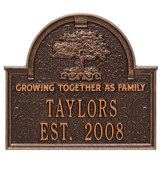 Personalized Family Tree Wedding Anniversary Plaque - View 2