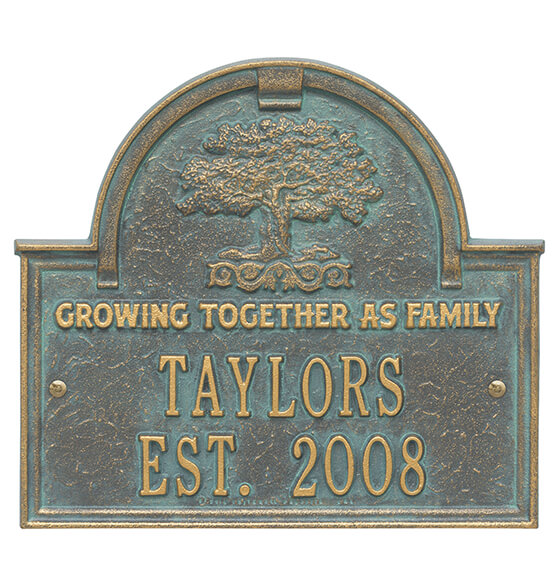 Personalized Family Tree Wedding Anniversary Plaque - View 3