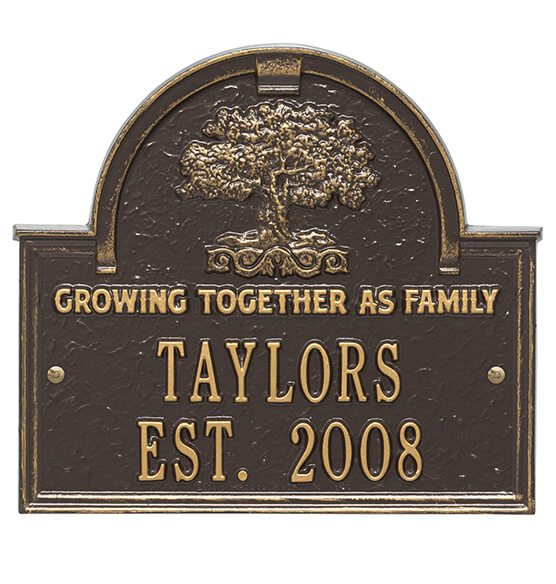 Personalized Family Tree Wedding Anniversary Plaque - View 4