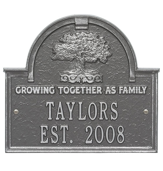 Personalized Family Tree Wedding Anniversary Plaque - View 5