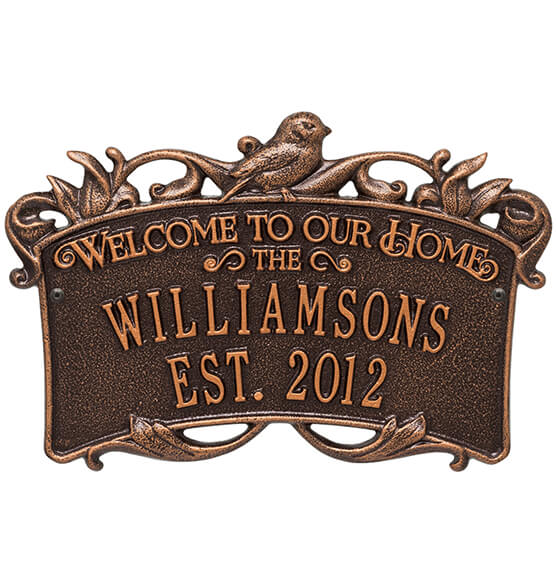 Personalized Songbirds Anniversary Welcome Plaque - View 2