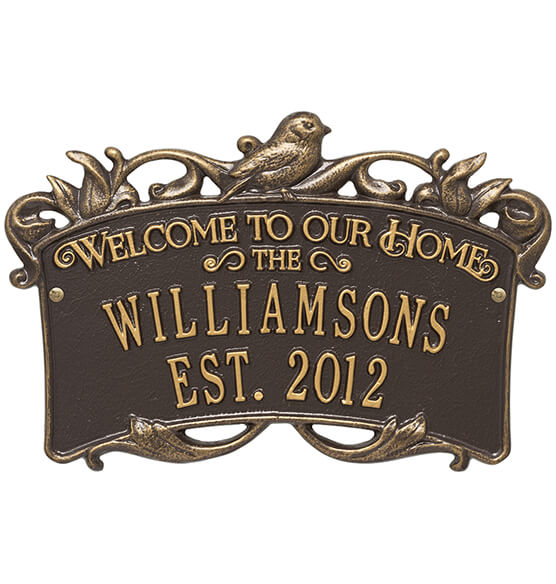 Personalized Songbirds Anniversary Welcome Plaque - View 4