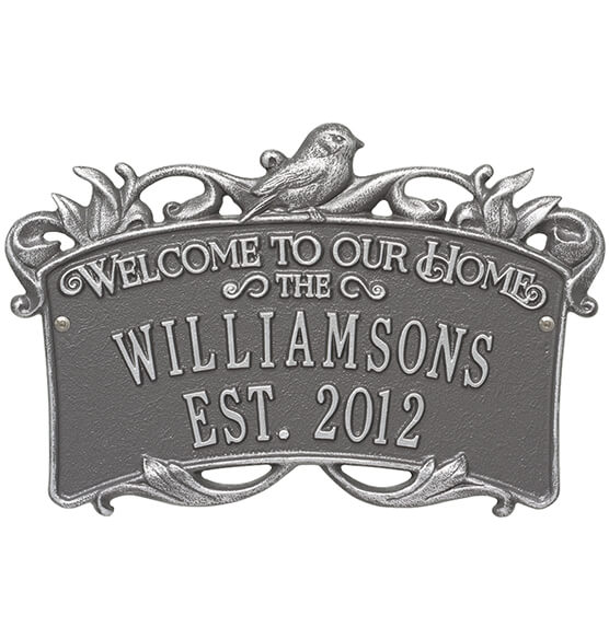 Personalized Songbirds Anniversary Welcome Plaque - View 5