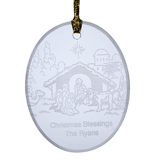 Personalized Nativity Ornament - View 2