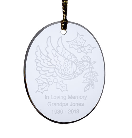 Personalized Dove Ornament - View 2