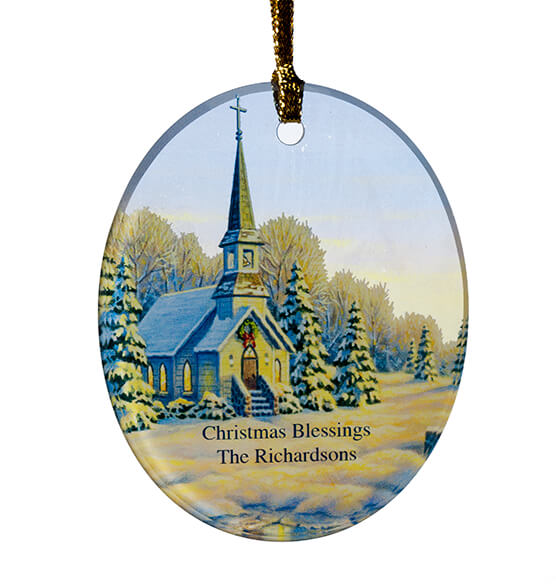 Personalized Reflections of Winter's Eve Ornament - View 2
