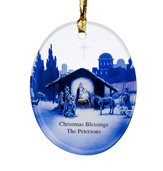 Personalized Reflections of Christmas Ornament - View 2