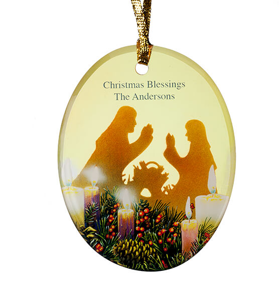 Personalized Candlelight Nativity Ornament - View 2