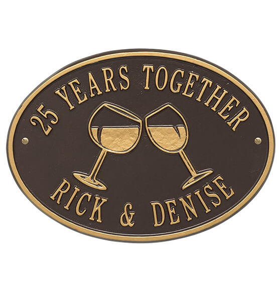 Personalized Wine Glass Deck Plaque - View 4