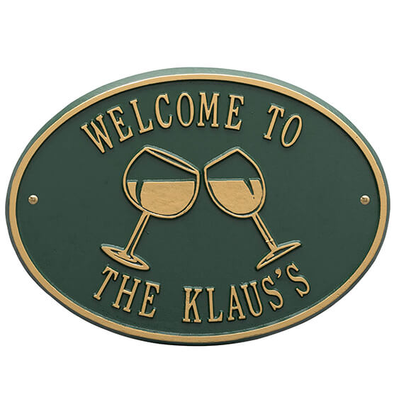 Personalized Wine Glass Deck Plaque - View 5