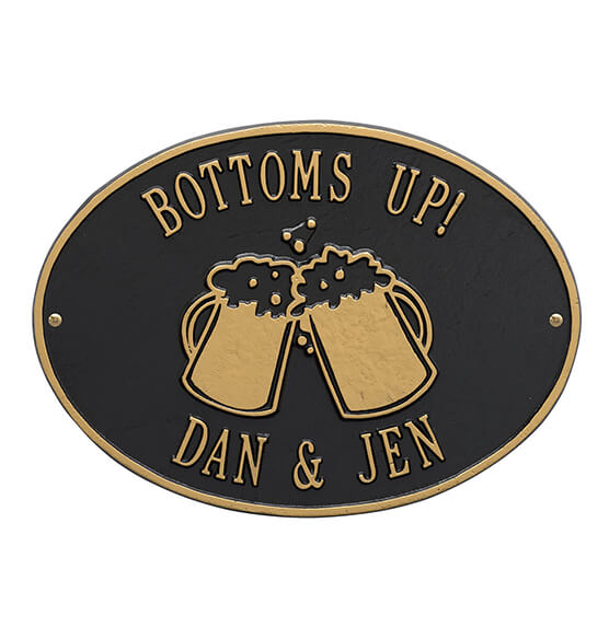 Personalized Beer Mug Deck Plaque - View 2