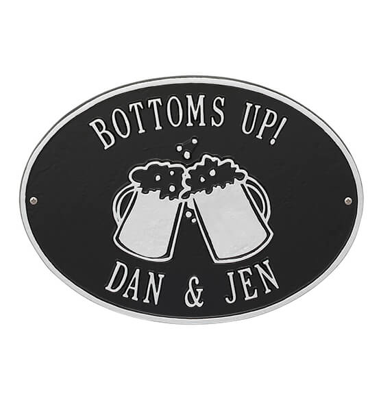Personalized Beer Mug Deck Plaque - View 3