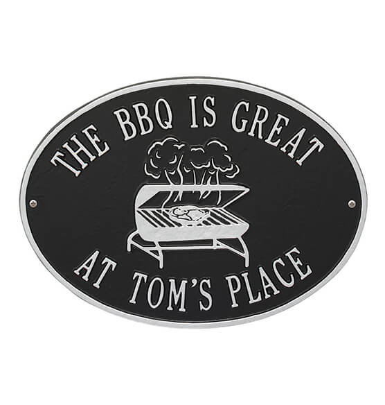 Personalized Grill Deck Plaque - View 3