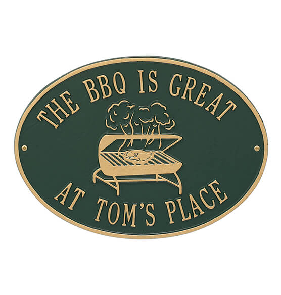 Personalized Grill Deck Plaque - View 5