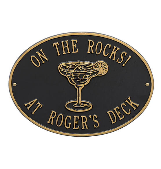 Personalized Margarita Deck Plaque - View 2
