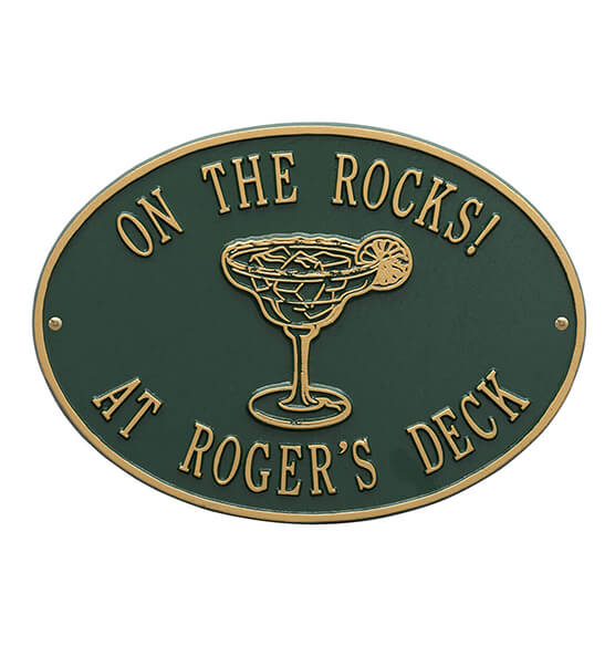 Personalized Margarita Deck Plaque - View 4