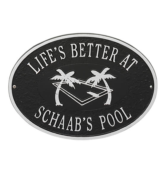 Personalized Swimming Pool Party Deck Plaque - View 3