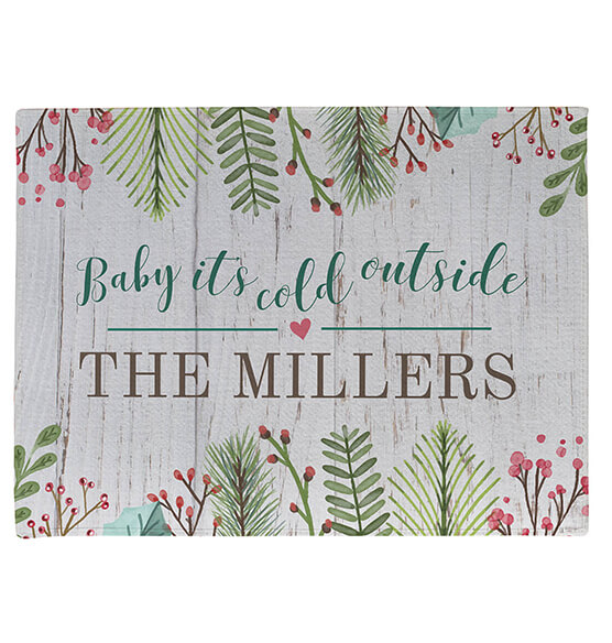 Personalized Baby It's Cold Outside Doormat - View 2