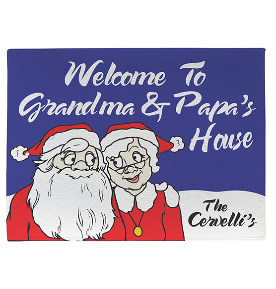 Personalized Grandma & Papa's Santa Claus Doormat - View 2